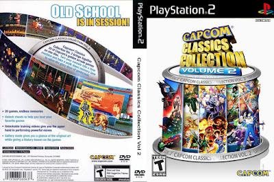 Jogo Capcom Classics Collection Vol.2 PS2 DVD Capa