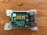 Attaching the Pi to the case