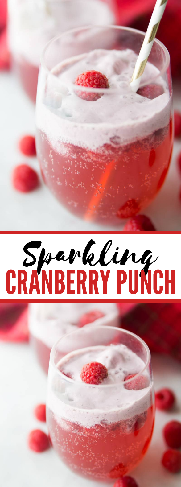 CRANBERRY RASPBERRY HOLIDAY PUNCH #drinks #kidfriendly