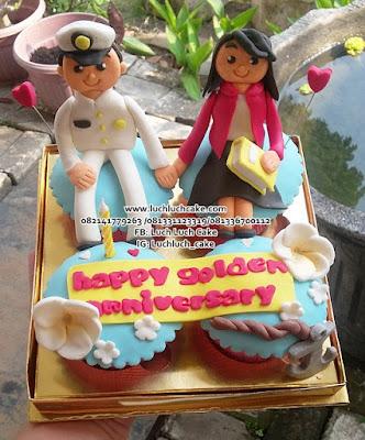 Birthday dan Anniversary Cupcake Tema TNI AL