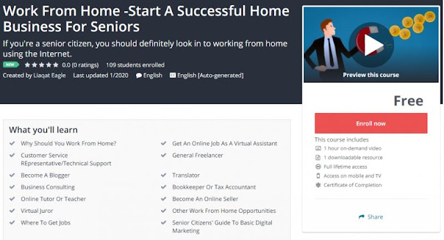 [100% Free] Work From Home -Start A Successful Home Business For Seniors