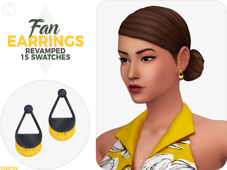 RevampedFan Sims 4 CC Earrings