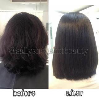 Hair transformation sample