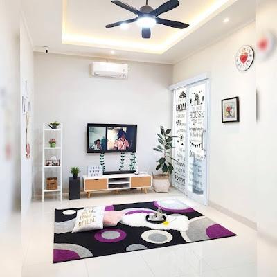 Ruang Tamu Dan Ruang Keluarga Tanpa Sekat