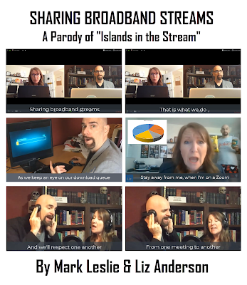 Sharing Broadband Streams comic style panel of screen shots from the video