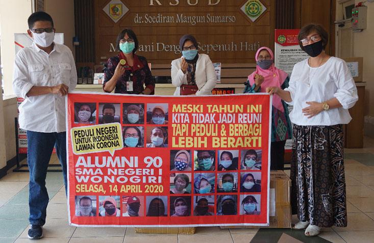 Batal Reuni. Alumni SMA Negeri 1 Wonogiri Sumbangkan Hasil Donasi, untuk Penanganan Covid-19