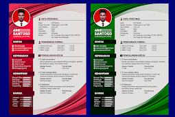 Contoh CV Lamaran Kerja Yang Baik dan Kreatif - Design #37