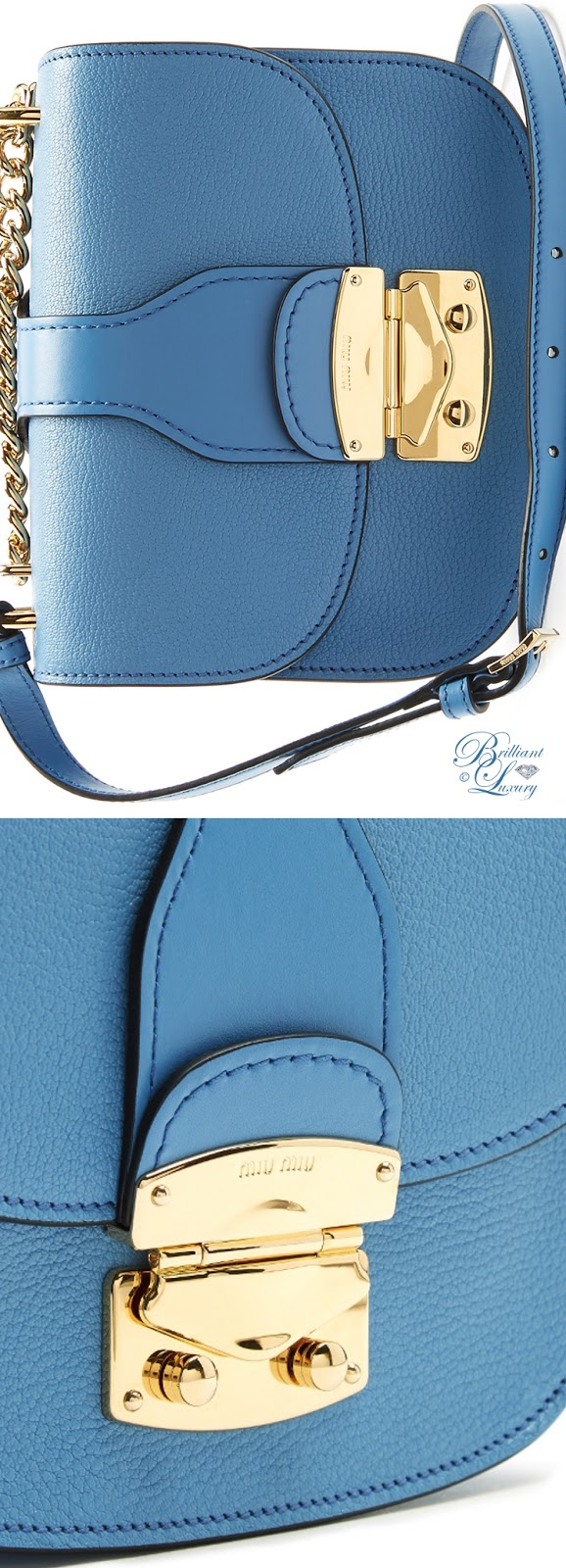 Brilliant Luxury ♦ Miu Miu Chain-strap leather cross-body bag