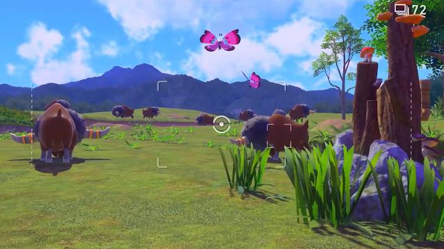 New Pokémon Snap Bouffalant herd in the field