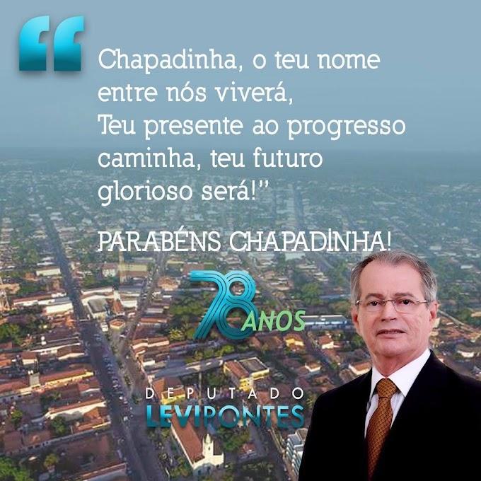Chapadinha 78 anos: Mensagem do Deputado Levi Pontes
