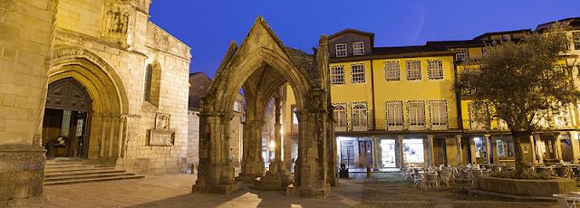 Pontos turísticos em Guimarães, Portugal