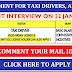 URGENT REQUIRMENT FOR TAXI DRIVERS : ABU DHABI