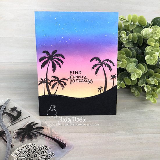 Find your paradise by Becky features Paradise Palms and Land Borders by Newton's Nook Designs; #newtonsnook