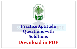 List of Aptitude Practice sets with Solutions Download in PDF