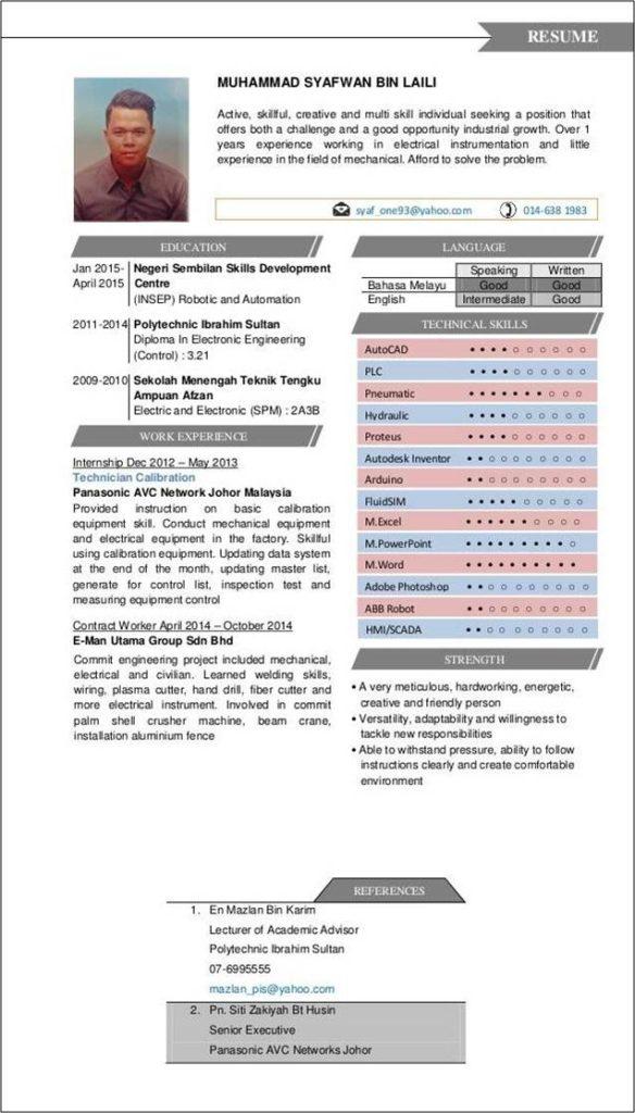 contoh resume terbaik 2