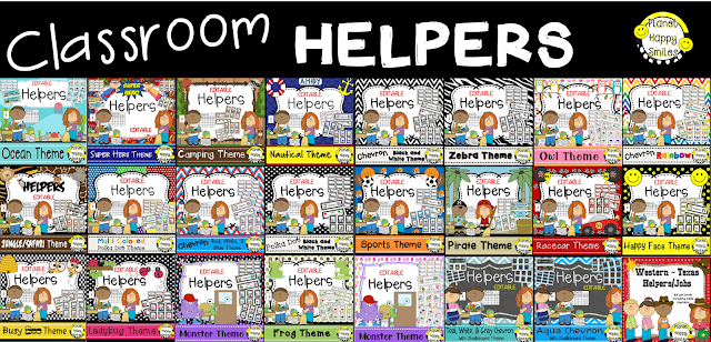Planet Happy Smiles, Classroom Jobs, Classroom Helpers