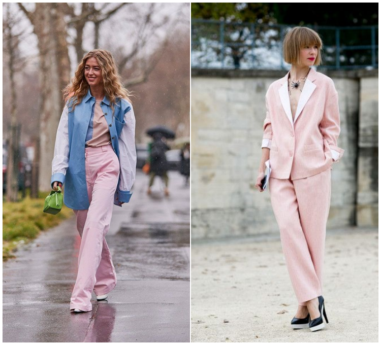 Soft Pink Street style