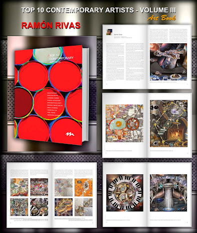 Las Obras de Ramón Rivas en 26 páginas del libro TOP 10 Contemporary Artists