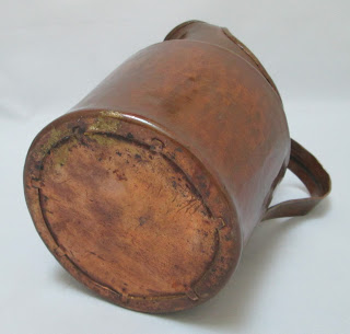 Hammered Copper Pitcher Hand Made  Bottom View