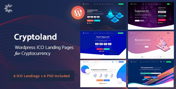 Crypto-land - Crypto Currency WordPress Theme