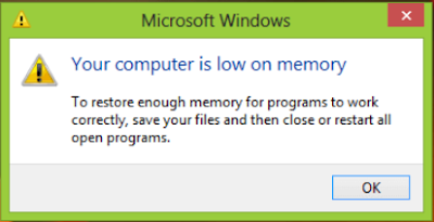 Tips Your Computer is Low in Memory