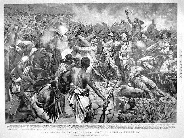 Last Stand at Adwa - contemporary British newspaper illustration
