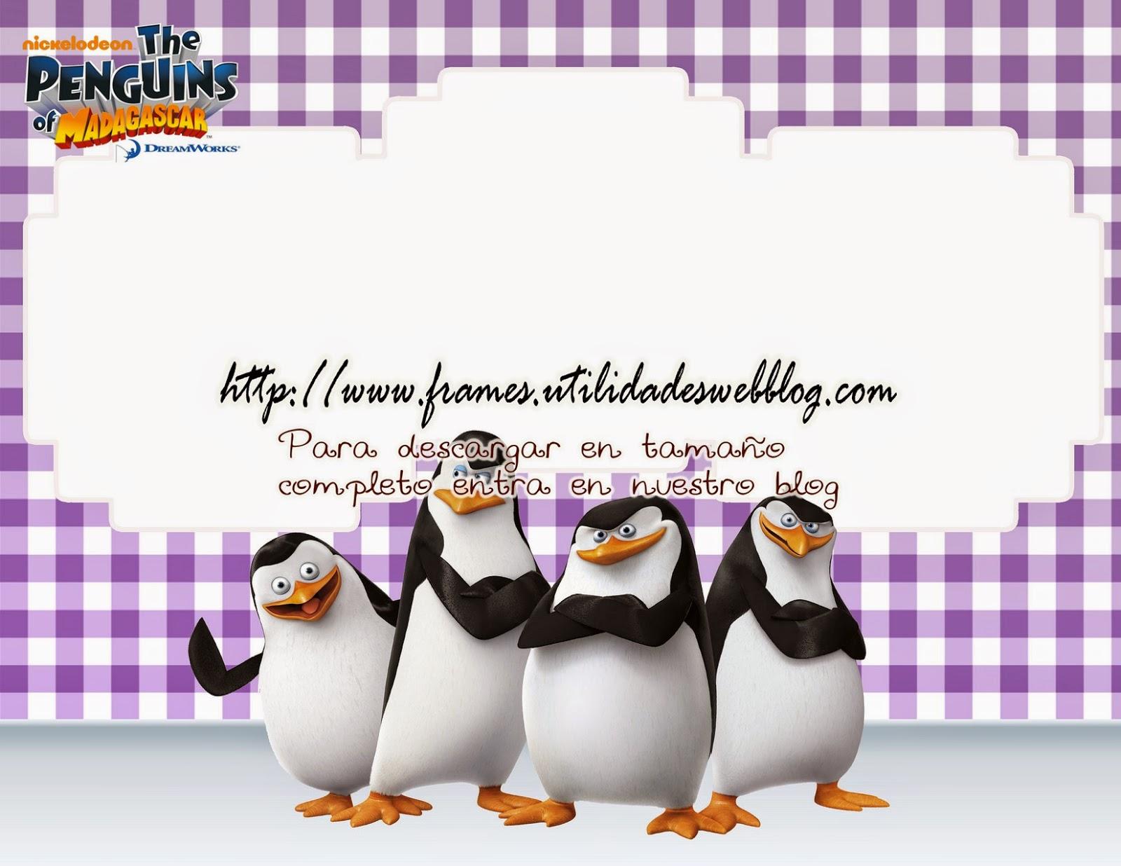 Marco para hacer fotomontajes infantiles con Los Pingüinos de Madagascar