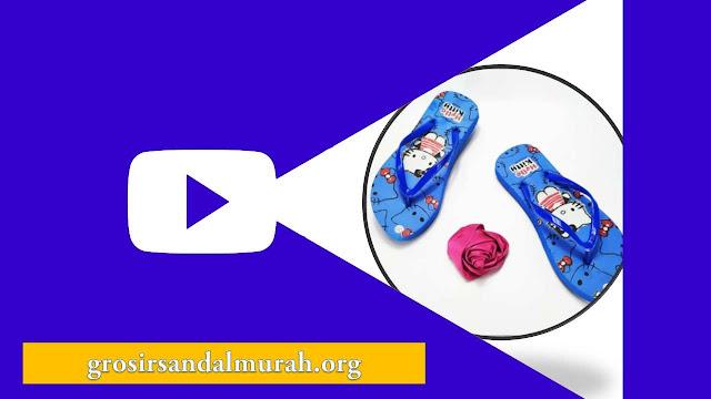 grosirsandalmurah.org - sandal wanita - Sandal Sablon HK Wanita