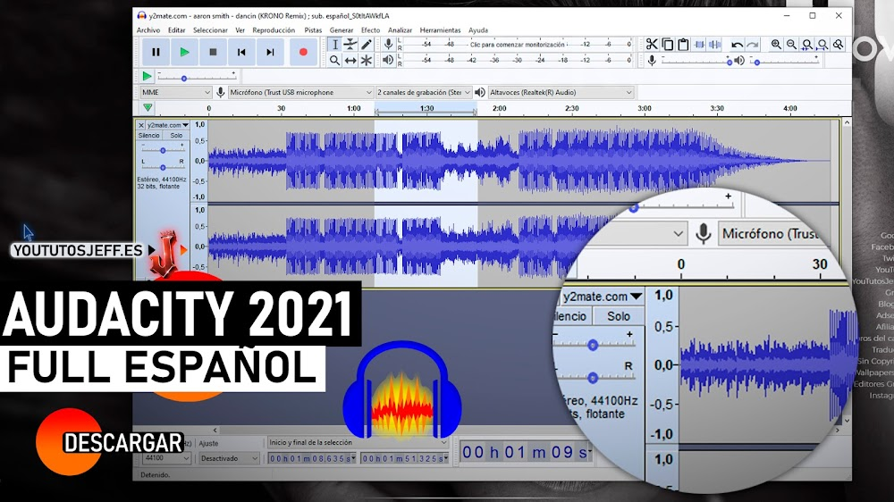 Como Descargar Audacity Ultima Version 2021 ESPAÑOL