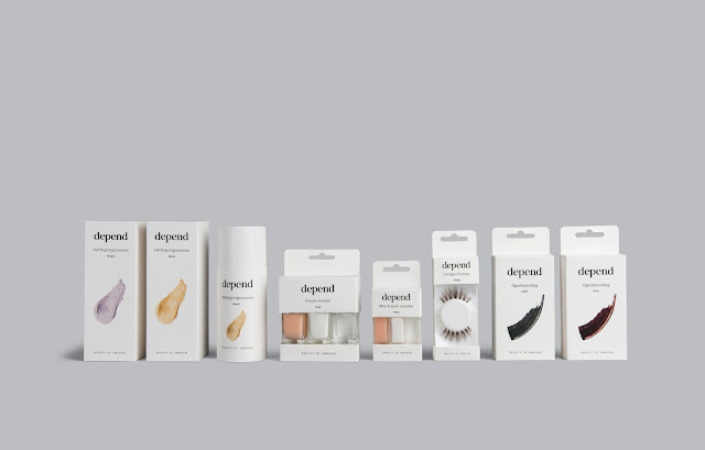 Depend Minimalistic Cosmetic Packaging By Sandra Kristensson, Emily Karlsson and Marie Hjalmarsson