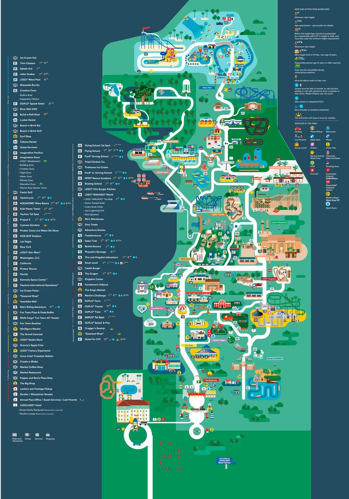 Mapa Legoland Florida