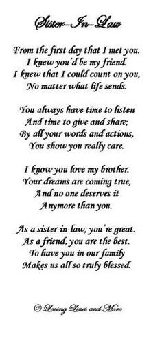 Beautiful I Love My Sister In Law Quotes Pics - Intelli ...