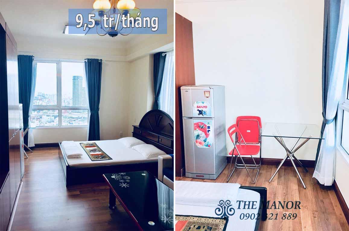 Studio cho thuê giá rẻ tại chung cư The Manor