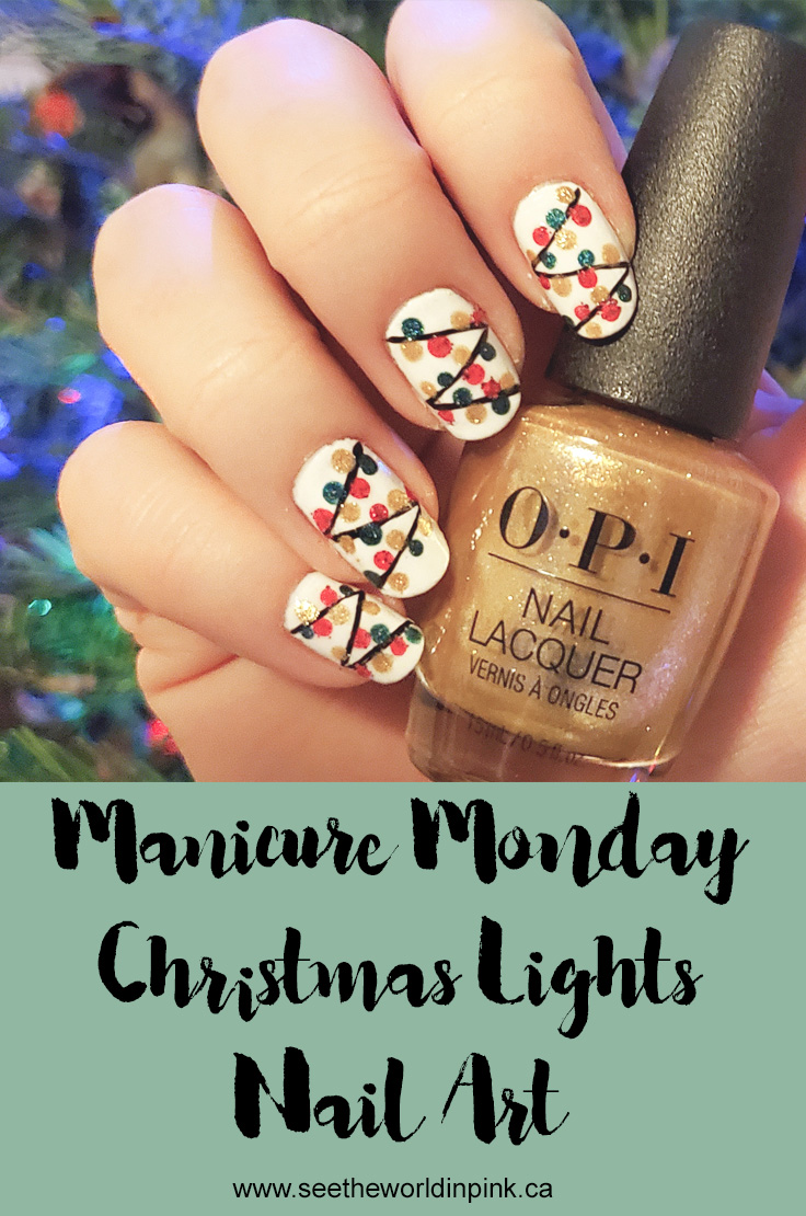 Manicure Monday - Christmas Lights Nails!