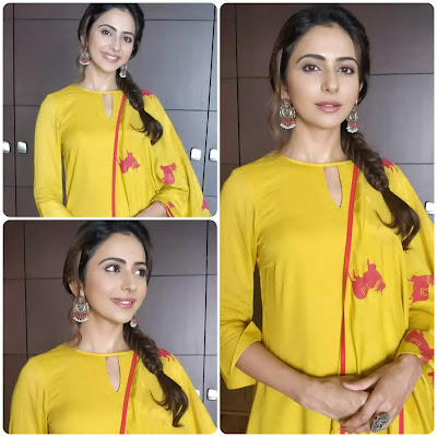 Rakul Preet Singh Fishtail Braid