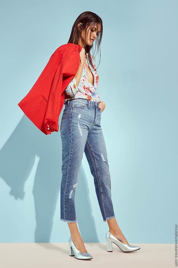 Moda mujer verano 2019. Moda jeans primavera verano 2019.