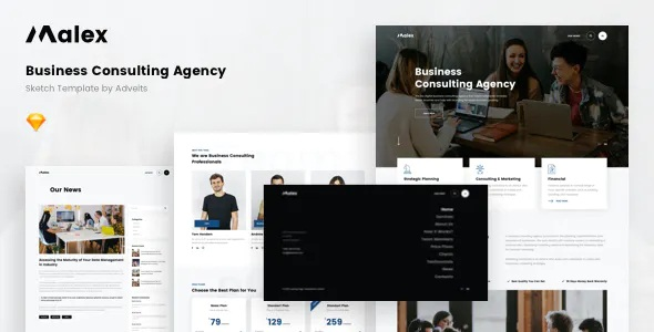 Best Business Consulting Agency Sketch Template