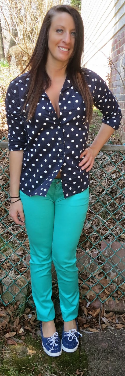 polka dot blouse, mint pants, target, fashion, outfit