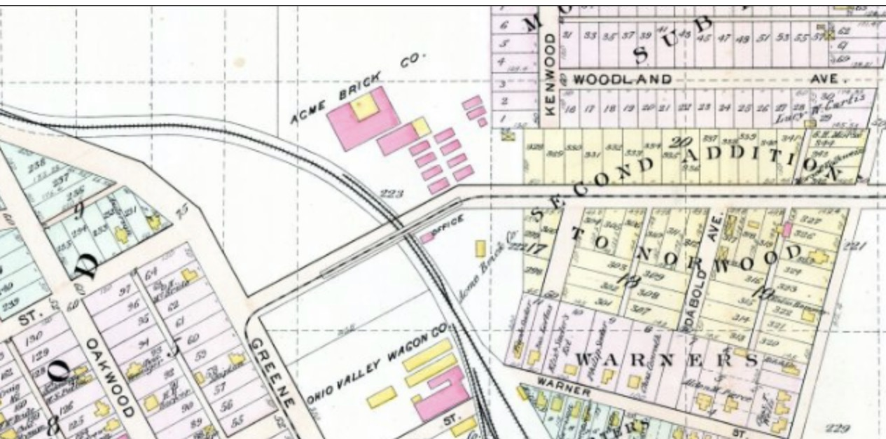 acme brick symbols on the map show its location along acme street which is not named on the atlas map could it later have been named after acme brick or