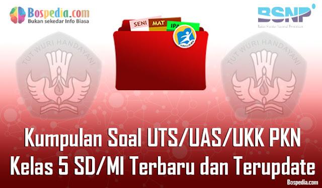 Kumpulan Soal UTS/UAS/UKK PKN Kelas 5 SD/MI Terbaru dan Terupdate