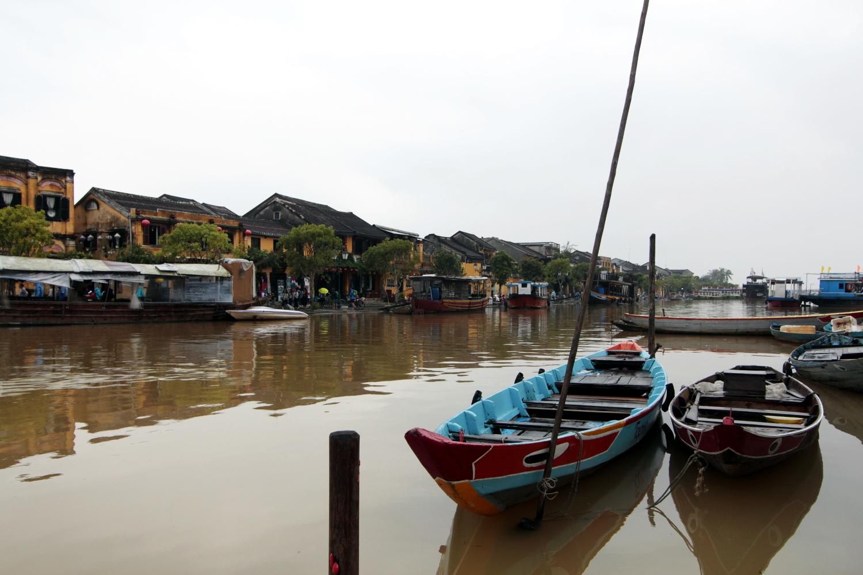 Río Thu Bon a su paso por Hoi An