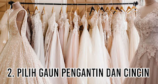 Pilih Gaun pengantin dan cincin
