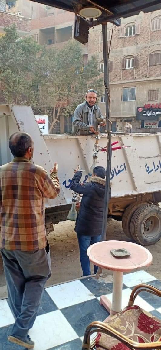 استمراراً لتنفيذ قرارات مجلس الوزارة الإجراءات الاحترازية في شبرا الخيمه