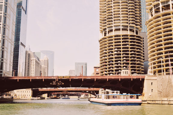 2 days in Chicago itinerary: view of bridges on the Chicago River