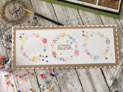 Thanks a bunch by Farhana features Happy Little Thoughts and Floral Fringe by Newton's Nook Designs; #newtonsnook