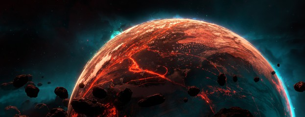 darkets planet, this planet glows very little. Which is red in color