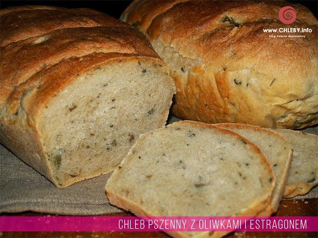 Chleb pszenny z oliwkami i estragonem