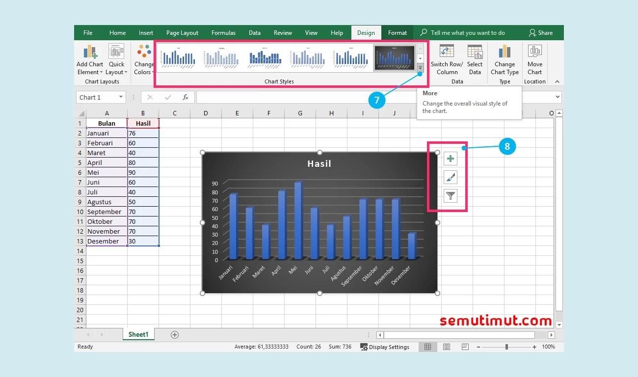 Cara Membuat Diagram Batang Di Microsoft Excel Gambar Semutimut Tutorial Hp Dan Komputer Terbaik