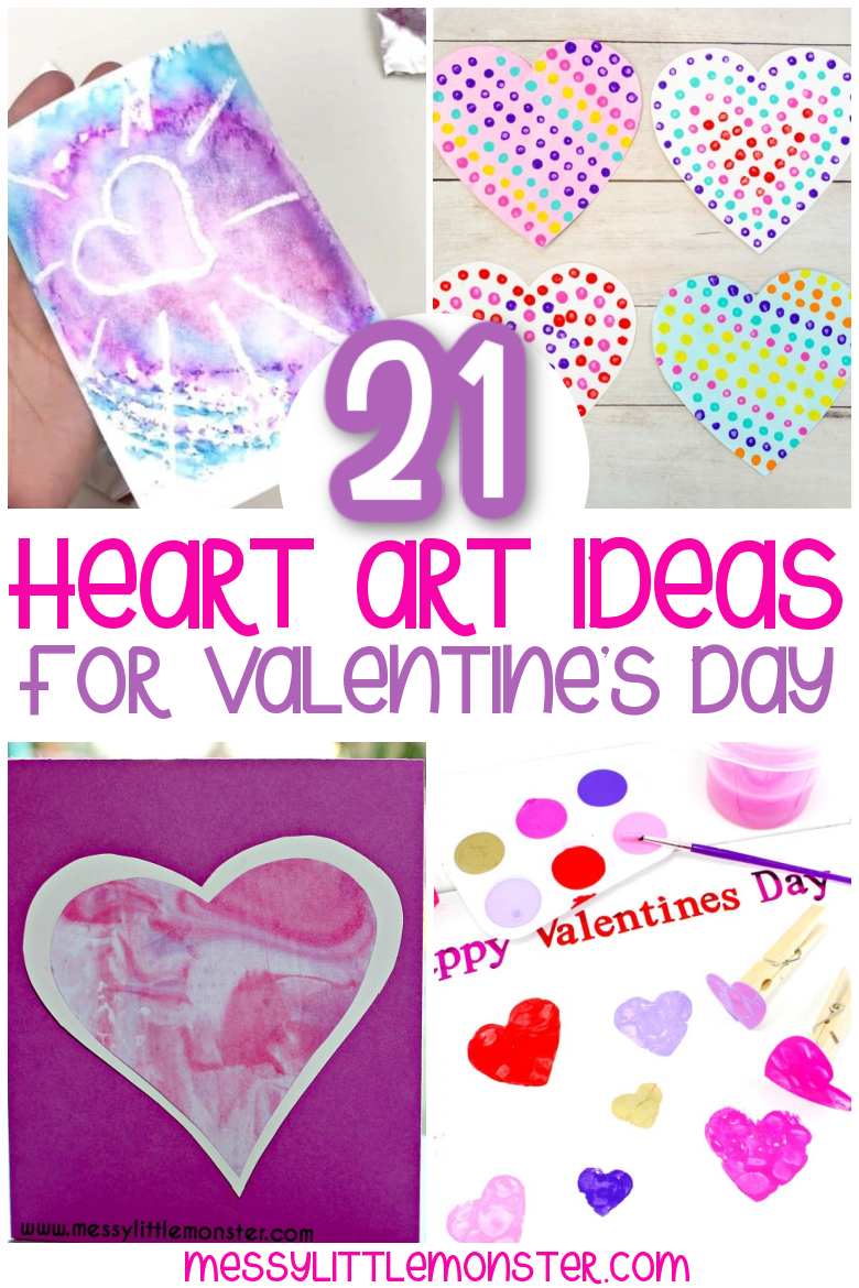Heart art ideas for Valentine's Day