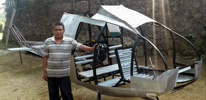 Bermodalkan Keahlian Otomotif Warga Sukabumi ini mampu Ciptakan Helikopter Sendiri